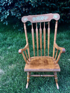 SUPER-COMFORTABLE, STURDY MAPLEWOOD ROCKER