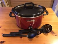 Unused Crock-Pot (the original slow cooker) Red 3.5l (family size)
