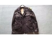 MENS REAL LEATHER JACKET NEVER BEEN WORN