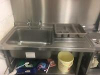 2 x commercial sink