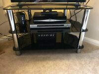 Glass TV stand, nearly new. Excellent condition, no marks. Collection only.
