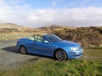 SAAB Convertible car 2007 light blue 60000 miles economical superb MOT June 2018