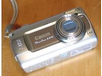 Canon PowerShot A470, 7.1 Megapixels Camera + case