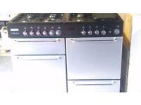 Flavel 8 burner dual fuel cooker