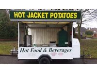 Catering Trailer - Baked Potato Oven, Griddle, Bain Marie and Water Boiler