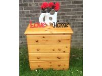Beautiful Solid pine 4 Drawer Chest - Delivery Available