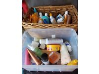 basket full of toiletries/smells carboot joblot