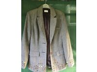 tweed style embroidered blazer