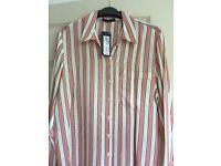 M&S Fuchsia and Cream shirt size 12