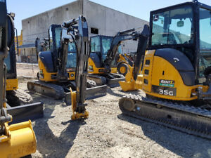 **Low Rate Rentals: Excavators, mini excavators, skid steers