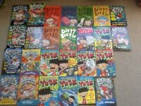 26 kids books - All Dirty Bertie, Yuck and Captain Underpants books