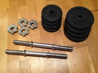 16kg Cast Iron Dumbbell Weight Set