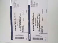 Nick Cave Concert Tickets !! Manchester Arena!@