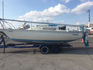 CS 22' w/trailer and Johnson outboard