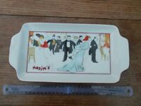 Small french porcelain tray with Maxim's of Paris motif
