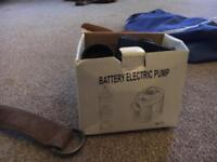 Once in a lifetime deal! Argos battery electric powered portable pump
