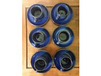 Lovely blue coffee cups and saucers