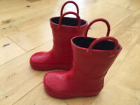Toddler Size 4 Red Wellington Boots in excellent condition