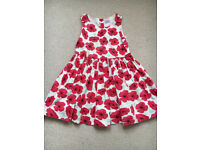 Girls poppy dress size 5-6 years old