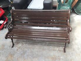Garden Bench 4ft with Ornate Cast Iron Ends