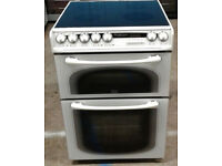 c195 white creda 60cm double oven ceramic hob electric cooker comes with warranty can be delivered