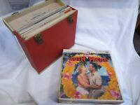 Vinyl Collection, 67 LPs, Vintage WINEL Carry Case. Sinatra, Musicals, Classical, Max Jaffa (signed)