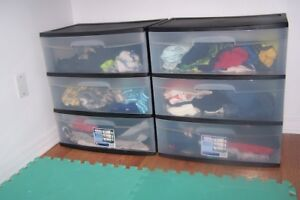 storage boxes, there are two