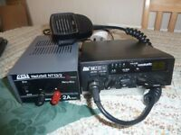 DNT cb 40 channel am/fm with DNT power supply.very good condition.