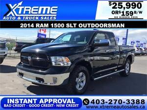 2014 RAM 1500 OUTDOORSMAN *INSTANT APPROVAL* $0 DOWN $159/BW!