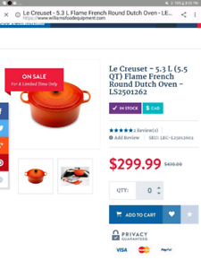 Le Creuset Cherry red pots (New)