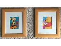 2 picture frames Winnie the Pooh and tigger