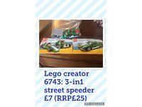 Lego Creator 6743 street speeder