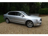 2010 Skoda Superb 2.0TDI CR 170 SE 87K FSH LEATHER & ALCANTARA HEATED SEATS 17""