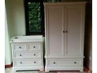 Mamas & Papas Orchard Ivory Wardrobe & Dresser/Changer