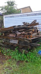 Free wood from old fence