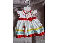 Baby girl red and white dress