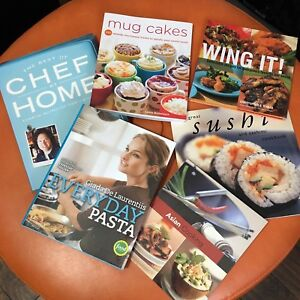 Cookbooks - Celebrity Chef, Sushi, Wings and more! Like new!