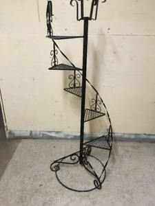 5 Teir wroght iron plant stand