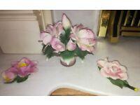 Capodimonte Flowers x 3