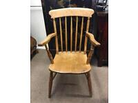 19th century Windsor stick back elbow chair