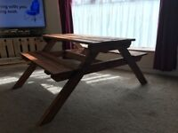 Children's wooden picnic table...