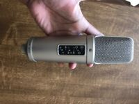 RODE NT2A mic with pop filter/headphone and xlr cable