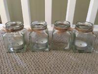 Small jars used for wedding table display x24