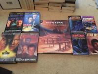 set of star trek books 9 books all in good condition
