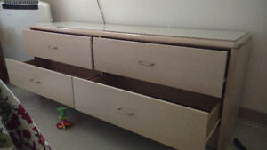 Light sand four drawer dresser