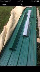 Metal roofing green