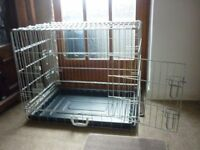 DOG CAGE WITH PLASTIC TRAY