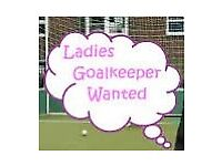 **Female Goalkeeper Needed**