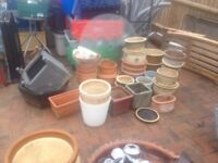 Collection of ceramic plant pots for the garden £5 each