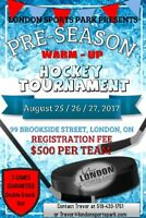 ADULT HOCKEY TOURNAMENT! AUGUST 25th/26th/27th